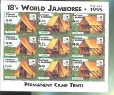ANTIGUA & BARBUDA  1964 X 3  OP 1931  MINT NEVER HINGED STAMPS OF WORLD SCOUTING  JAMBOREE - Unclassified