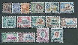 Cyprus 1960 Republic Overprints On QEII Definitives Set Of 15 Fresh MNH - Chypre (République)