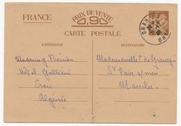FRANCE / ALGERIE - CP Interzones Type Iris Depuis ORAN RP - 1940 - Cartes Postales Types Et TSC (avant 1995)