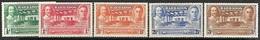 Barbados 1939  Sc#202-6 Set Of 5 MLH   2016 Scott Value $13.05 - Barbados (...-1966)