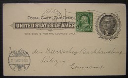 USA University Of Chicago The American Journal Of Theology Entier Avec Repiquage Et Complément Pour Leipzig (Allemagne) - Interi Postali