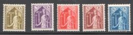 1932  Comtesse Ermesinde  No 239-43  * - Luxembourg