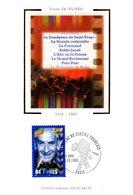 """FRANCE 1998 """" LOUIS DE FUNES """" Sur Carte Maximum En Soie. N° YT 3190 Parfait état CM - Cinema"""