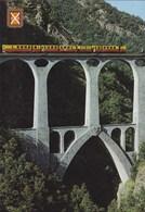 La Cerdagne - Le Petit Train Jaune Sur Le Pont Séjourné - Timbre & CAD Andorre - France