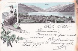 VEVEY : Souvenir De Vevey - Carte Précurseur - 1898 - VD Waadt