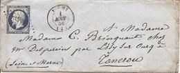 ALLIER (3) ENV De VICHY  OBLI  PC 3564  Sur NAP Pour TANCROU  +  AMBULANTS - 1849-1876: Période Classique