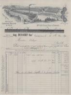 69 5954 COURS RHONE 1898 ManuF Couvertures  Tapis BAULAND DUSSERT SCHNORF  Succ JC VILLE Usine De La Fargette A SAUVION - France