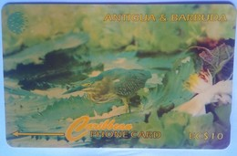 104CATB Green Backed Heron $10 - Antigua And Barbuda