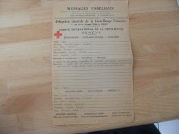 Guerre 39.45 Lettre Document Croix Rouge Delegation Vichy Imprime Pour Geneve - Guerre De 1939-45