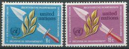 UNO NEW YORK 1973 Mi-Nr. 254/55 ** MNH - New York -  VN Hauptquartier