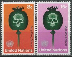 UNO NEW YORK 1973 Mi-Nr. 256/57 ** MNH - New York -  VN Hauptquartier