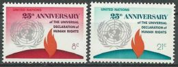 UNO NEW YORK 1973 Mi-Nr. 262/63 ** MNH - New York -  VN Hauptquartier