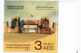 UAE New Issue 2017, Sheik Zaid Heritage Festival 1 V..complete Set MNH- Skrill Payment Only - Verenigde Arabische Emiraten