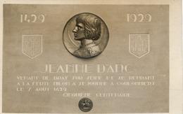 77  Carte-photo Du Médaillon Commémoratif à Jeanne D'ARC Pour Le Cinquième Centenaire Du Séjour à COULOMMIERS, 1429 1929 - Coulommiers