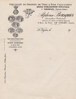 GREOUX BASSES ALPES LE VIGAN GARD ALPHONSE BOUSQUIER SPECIALITE GRAINES DE VERS A SOIE CELLULAIRES SERICICOLE ANNEE 1900 - France