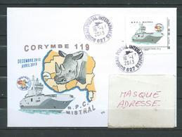 B.P.C. MISTRAL  - Mission CORYMBE 119 - TàD BPI 627 16/01/13 Sur MONTIMBRAMOI - Naval Post