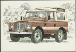 Land Rover Series III 88-inch County Station Wagon - Golden Era Postcard - Passenger Cars