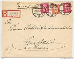 28410. Carta Certificada CHEMNITZ (Alemania Imperio) 1932 - Oficial