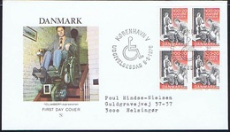 Denmark 1976. The Foundation Of The Disabled; Block Of 4 On FDC. - FDC