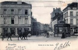 Nels Série 1 N° 224 - Bruxelles - Entrée De La Rue Haute - Bruxelles (Città)