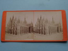MILANO La Cattedrale ( 3818 ) Stereo Photo Maison Giacomo Brogi ( Voir Photo Pour Detail ) ! - Photos Stéréoscopiques