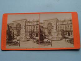 MILANO () Stereo Photo Maison Giacomo Brogi ( Voir Photo Pour Detail ) ! - Photos Stéréoscopiques
