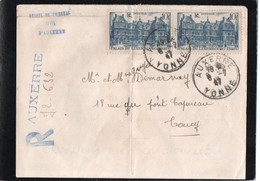 Vieux Papiers > Cachets Généralité Recommandé Auxerre - Timbri Generalità