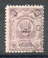 PERU' 1909 - OFFICIAL STAMPS.  10c. Usato - Scott. O30B-O1 - Peru