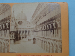VENICE Venise COUR Du Palais DUCAL (3005) Stereo Photo J.A. ( Voir Photo Pour Detail ) ! - Photos Stéréoscopiques