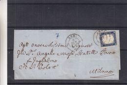 Italie - Lettre De 1862 - Oblit Lodi - Exp Vers Milano - - 1861-78 Vittorio Emanuele II