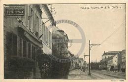 /! 4718 - CPA/CPSM  :  78 - Saint Cyr L'Ecole : Plaque Municipale Michelin - St. Cyr L'Ecole