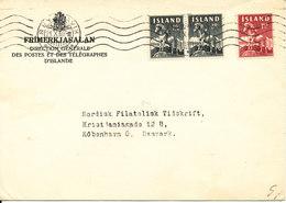 Iceland Cover Sent To Denmark Reykjavik 21-10-1960 - 1944-... Repubblica