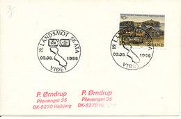 Iceland Cover Videy 3-8-1986 Special Postmark Single Franked - 1944-... Republique