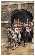"Rapahel TUCK & Sons ""Oilette"" -Illust. Harry PAYNE - The Kings' Guard At Whitehall - N° 6412D - Serie Military In LONDON - Tuck, Raphael"