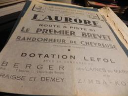 AFFICHE PUBLICITAIRE DU 15 AVRIL 1951. LE PREMIER BREVET DE RANDONNEUR DE CHEVREUSE. - Publicidad