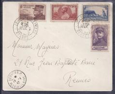 Enveloppe Locale  Journee Du Timbre 1942 Rennes Gallieni Joffre Foch - Storia Postale