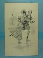 Illustration Patinage Sur Glace - Couples