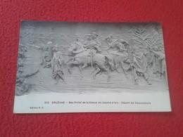 POSTAL POST CARD POSTCARD CARTE POSTALE FRANCIA FRANCE ORLÉANS BAS-RELIEF DE LA STATUE DE JEANNE D'ARC JUANA DE ARCO VER - Francia
