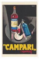 CARTOLINA PUBBLICITARIA  CAMPARI   Illustratore NIZZOLI - Pubblicitari