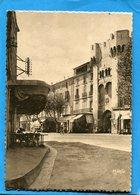 Manosque-place Porte Saunerie-animée Café Commerces Et Camions-années 40-50-édition Mario - Manosque