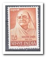 India 1964, Postfris MNH, Kasturba Gandhi - India