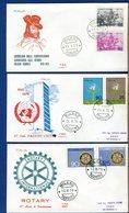 ITALIA - FDC - 1970 - ROTARY - NAZIONI UNITE - GARIBALDI A DIGIONE - 6. 1946-.. Repubblica