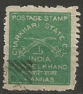 Charkhari - 1909 Crossed Swords 4a Used (see Description) - Charkhari