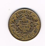 &  TUNESIE  1  FRANC  1945 ( 1364 ) - Tunisie