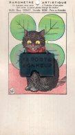 V12525 Cpa Illustrée Chat - Chats, Baromètre Artistique, Le Porte Bonheur - Chats