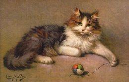 V12529 Cpa Illustrée Chat - Chats,  Illustrateur Léon Huber - Gatti
