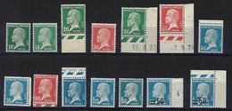 """FR YT 170 à 181 219 222 """" Série Pasteur Complète """" 1923 Neuf** - 1922-26 Pasteur"""