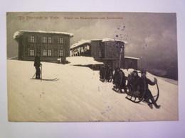 Die  PETERBAUDE In Winter  -  Abfahrt Von Hörnerschlitten Nach Spindelmühle   1907    - Repubblica Ceca