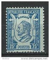 "FR YT 209 "" Pierre De Ronsard "" 1924 Neuf** - France"
