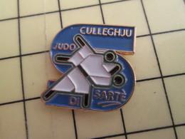 """Pin611c Pin's Pins / Rare Et De Belle Qualité /  SPORTS : CORSE JUDO (pas De Mot Local Pour """"judo ?) COLLEGE DE SARTENE - Judo"""